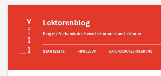 VFLL-Blog Das gepflegte Wort - Texte Lektorat PR, Köln